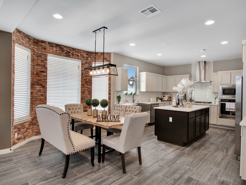 Tuscany Model Home - Dining and Kitchen Area
