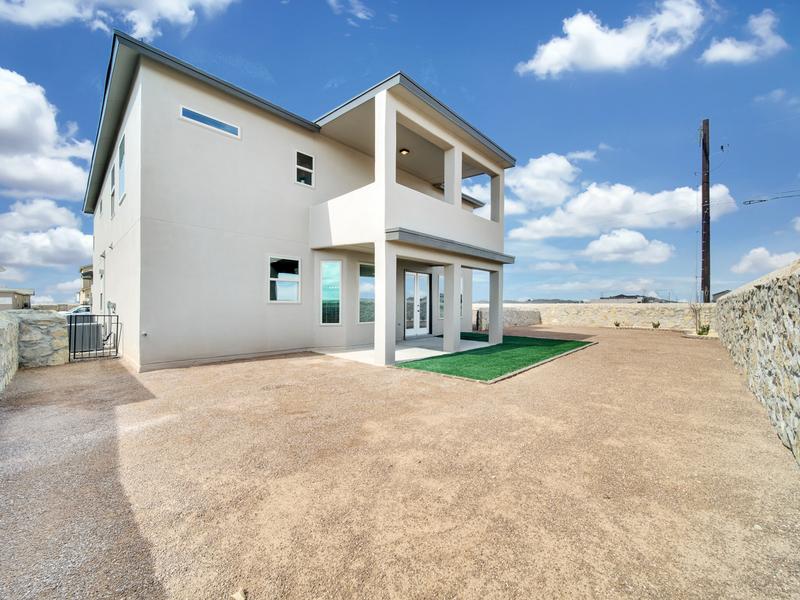 Tuscany Model Home - Backyard