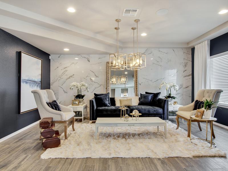 Brooks Model Home - Living Room
