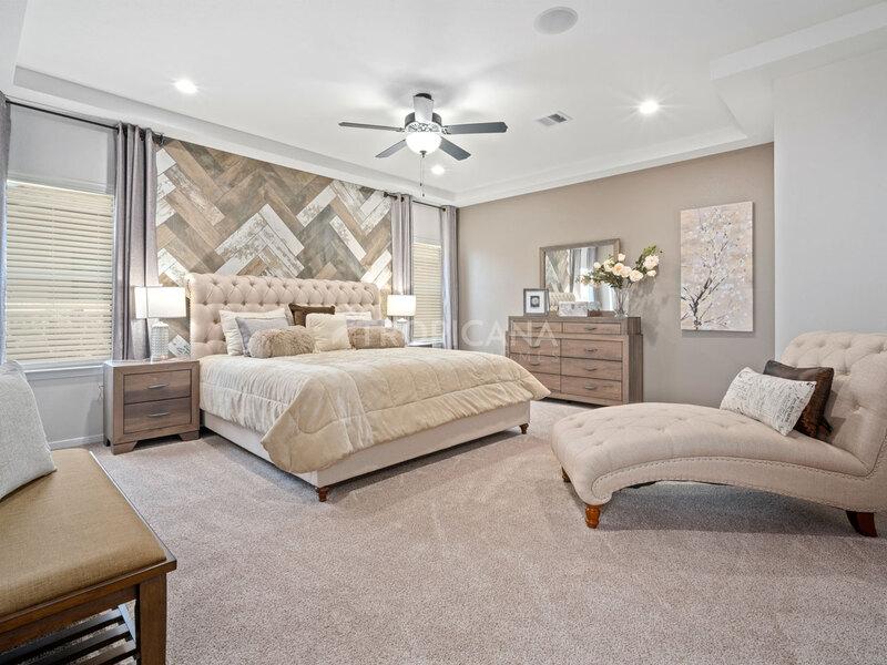 Eastlake model home - Downstairs master bedroom